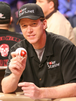 Baseball legend Orel Hershiser playing poker