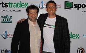 TwoGun with SportsTradex partner, Ben Cohen